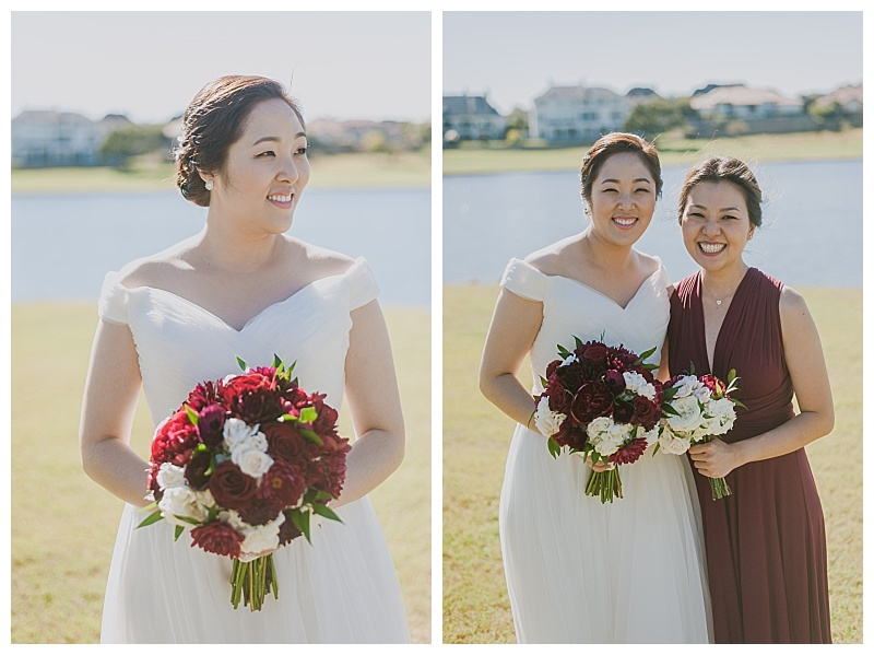 burgundy and white dallas wedding flowers with greenery