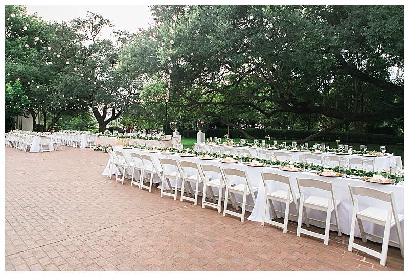 Garden style Dallas arboretum wedding flowers