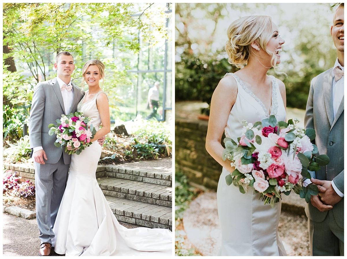 Texas Discovery Garden Spring Wedding Pink wedding flowers